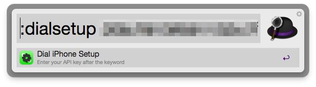 dialsetup [API Key]